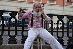 Street Musician (kanyck) Tags: street outdoor musician portrait nikon d7200 sigma 1750 saintpetersburg