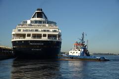 Prinsendam and Fairplay III DST_4971 (larry_antwerp) Tags: prinsendam 8700280 antwerptowage fairplayiii 9365116 antwerp antwerpen       port        belgium belgi          schip ship vessel        schelde