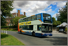 The fastest bus in the...... South East! (Jason 87030) Tags: mad insane loopy nuts nutter president plaxton dennis trident stagecoach southeast wickhambreaux canterbury westwoodcross chase race bus transport lewishamilton fast speed speedy holiday august 2016 11 x703jvv village roads lanes 17693 kent uk england unitedkingdom greatbritain doubledecker