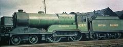 "BR (Ex LNER D11) 62677 ""Edie Ochiltree"" at Haymarket Shed (9/1951) (bexxy321) Tags: 1951 d11 lner lnerdirector"