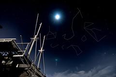 Connecting stars (bdrc) Tags: asdgraphy a6000 sony tokina 1116 ultrawide long exposures night port klang tanjung harapan coast seaside constellation stars moon ship wreck scorpio