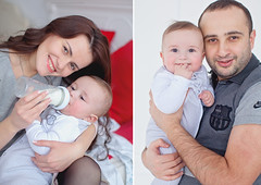 Pretty family (Yulchonok) Tags: family diptych boy portrait happiness people 50mm