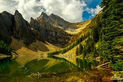 Lake Anges (christianstapor) Tags: fujifilmxt10 fuji fujifilm lake lakeagnes lakelouise banff banffnationalpark canada canadianrockies xf1855mm mirrorless reflection summer landscape