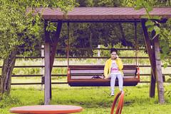 Girl on a swing (maier_daniel2001) Tags: fata balansoar pensiune scrind frasinet girl swing telephone tree fence nature transilvania romania
