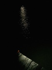 Moonlighting at the Dock (JenGallardo) Tags: bwisland bwisland2016 darkness dock friday lightanddark moonlight reflection ripples river