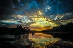 Hopewell Lake Sunrise (Chris Potako) Tags: hopewell creek pa sunrise french kayak shower state meteor park lake lapse time perseid