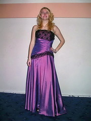 Classy young lady (Paula Satijn) Tags: girl lady young beauty gorgeous blond blonde purple dress gown elegance cute adorable hair feminine girly skirt lace shiny satin silk