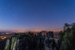Basteibrcke bei Nacht (n_held_fotografie) Tags: bastei milchstrase milkyway nacht nachtaufnahmen sonnenaufgang sterne schsischeschweiz rathen sachsen deutschland de