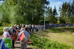 Line for the concert (mclick!) Tags: people portland oregon josh groban concert august 2016 edgefield amphitheater mcmenamins troutdale singer choir orchestra pearl district crystal hotel mothers outdoor music