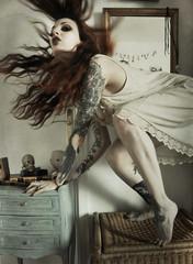 L'envol (Iris Syzlack) Tags: selfportrait fifipatchouli irissyzlack hair movement capture