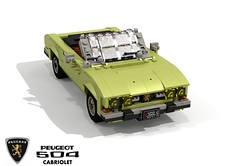 Peugeot 504 Cabriolet (Pininfarina 1970) (lego911) Tags: peugeot 504 cabriolet 1970 1970s pininfarina coachbuilt classic auto car moc model miniland lego lego911 ldd render cad povray france french lugnuts challenge 107 saturdaymorningshownshine saturday morning show n shine foitsop