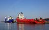 NATALIE  & EAGLE FJORD in Cuxhaven (cuxclipper ) Tags: eaglefjord versorger servicevessel offshoresupplier eagleshipping supplysurveydiveship cuxhaven port natalie