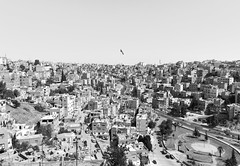 Giant flagpole (Francisco Anzola) Tags: jordan middleeast city urban arabic amman skyline vista dense density