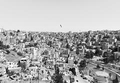Giant flagpole (Francisco Anzola) Tags: jordan middleeast city urban arabic amman skyline vista dense density