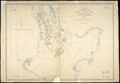Military operations, 1863-1864, North Island. (Archives New Zealand) Tags: archivesnewzealand archives map newzealandhistory northisland landwars nzwars military 1863 1864 redoubt 19thcentury lithograph
