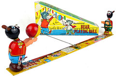 TPS Bear Playing Ball (toytent) Tags: tps mechanicalbears bearplayingball circusbear bears tintoy winduptoy vintagetoy madeinjapan toytent5664 toytentcom vintagetoysforsale