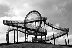 Tiger and Turtle Staircase (holger_haase) Tags: duisburg industry germany nordrhein westfalen ruhrgebiet ruhrpott blackandwhite