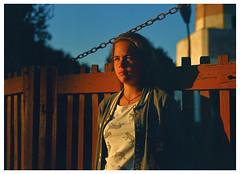 Rada (skumata) Tags: bronica gs1 expired film analogue 120 6x7 bulgaria girl romantic kodak ektachrome slide blonde portrait shabla outdoor