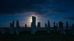 callanish full moon (Sunshinenshadows) Tags: calannishstones standingstones stonecircle isleoflewis outerhebrides scotland moonlight moonrise fullmoon darkskies