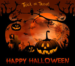 Fact About Halloween (AllHalloweener) Tags: halloween background night horror illustration tree black moon jackolantern celebration dark evil cartoon spider silhouette design bat october holiday trick treat scary pumpkin art spooky creepy party card autumn seasonal invitation poster lantern fairytale happy frame banner clouds orange cemetery painting glow owl grunge wallpaper sky gothic smiling concept vector