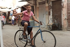 bike boy in Marrakech (Jos Morcillo Valenciano) Tags: boy marrakech morroco medina bike street summer