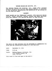 Aaron Walker & Kundalini (rockcreek) Tags: dc washingtondc jacquesmorgan ephemera flyer flyers johncoltrane jazz marymcleodbethunecouncilhousenationalhistoricsite bethunemuseumandarchives aaronwalker kundalini marshafrazier carterjefferson brotoroy michaelstevens vermontavenue nw 1992 logancircle