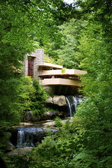 _DSC0452 (kswansunshine) Tags: wright architecture fallingwater nature waterfall pennsylvania franklloydwright
