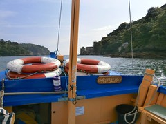 1 Mouth of River Dart from the Dartmouth Castle ferry, Devon 09-16 (spiralsheep) Tags: uk england britain devon dartmouth boat castle photo 2016