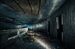 Basement in Buzludzha (inhiu) Tags: light lightpainting heritage abandoned monument night dark painting concrete nikon long exposure decay dream dramatic surreal ufo communist communism bulgaria memory romantic moved unreal epic destroyed shipka kazanluk buzludzha buzludja d7000 inhiu forgetyourpast