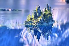 The Phantom Ship (gordeau) Tags: reflection oregon island gordon craterlake phantomship ashby flickrchallengegroup flickrchallengewinner thechallengefactory thepinnaclehof gordeau tphofweek214