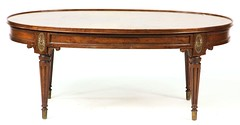 55. French Walnut Coffee Table