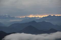 Zugspitze (mr-mojo-risin) Tags: sunset mountains alps berg clouds bayern bavaria sonnenuntergang hiking wolken berge climbing valley alpen wandern tal tegernsee zugspitze tegernseerhütte
