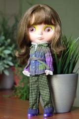 (Echo (EchoForDolls)) Tags: belt sweater knitting doll aztec buttons knit cables blythe cardigan echofordolls