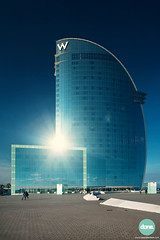 Hotel W, Barcelona (tjeerd.derkink) Tags: barcelona architecture canon hotel spain arquitectura w barceloneta nueva ricardobofill bocana hotelw canoneos5dmkii novabocana