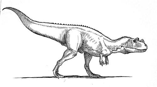 Resultado de imagen de ceratosaurus dibujo