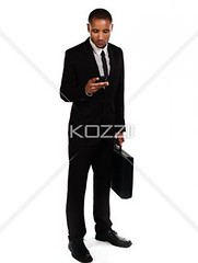 young african american businessman  tex