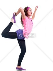 side view of  young woman stretching her legs (hannapeople2012) Tags: woman beautiful beauty yoga female photography pretty exercise fulllength funky indoors whitebackground trendy balance studioshot sideview youngadult pulling stretching casualwear adultsonly oneperson touching lookingaway flexibility caucasian lifestyles flexible fashionable wellbeing standingononeleg casualclothing colorimage onewomanonly oneyoungwomanonly healthylifestyle attractivefemale 2024years