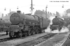 30/01/1964 - Willesden (1A) MPD, London. (53A Models) Tags: london train jubilee railway steam mauritius 1a hawke willesden lms 460 britishrailways stanier 45617 45652