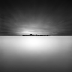 total surrender (Julia-Anna Gospodarou) Tags: longexposure sunset sea blackandwhite bw seascape water monochrome clouds square island nikon moody athens highlights minimal greece negativespace le dreamy unreal tamron centered 2012 manfrotto stgeorgeisland hoya nd400 agiosgeorgios nd8 capesounio radialclouds manfrotto055xprob softsea nikond7000 siruik20x tamronaf18270mm3563pzd