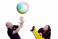 "David and Ruth with beach ball blower • <a style=""font-size:0.8em;"" href=""http://www.flickr.com/photos/66389448@N03/8135131336/"" target=""_blank"">View on Flickr</a>"