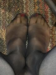 Toes in Hose (Stlcd1989) Tags: black public highheels dress crossdressing heels opaque pantyhose crossdresser crossdress leggs blackheels blackpantyhose sheerenergy blackhighheels opaquepantyhose