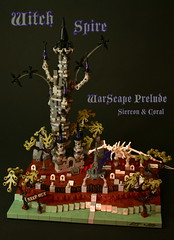 Witch Spire (Siercon and Coral) Tags: halloween graveyard dragon lego witch haunted spire necropolis moc necromancy warscape