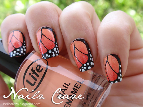 Butterfly Wings Nailz Craze NC01 Stamping plate