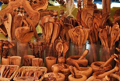 Olivewood stall, Freiburg Market.GERMANY, (Amidared) Tags: wood utensils germany nikon market cups freiburg visualart woodgrain handcraft goblets marketstalls olivewood nikonflickraward germany2011