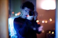 330/365(+1) - EXPLORED - January 7, 2013 #195 (Luca Rossini) Tags: street portrait reflection home night self project 50mm lights mirror bokeh sony voigtlander 365 f11 nokton mmountadapter voigtlandernokton50mmf11 nex7 3651daysofnex7 366nexblogspotcom