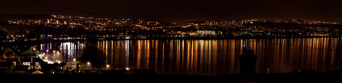 Swansea panorama at night 14,500 x 3,500