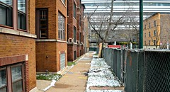 University of Chicago Demolition (chicagogeek) Tags: chicago buildings demolition southside hydepark block universityofchicago twoflats