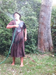 Wetting the brown dress four (Jack Williams) Tags: men wet fashion fun freestyle frolic dress auckland dresses fashions meninskirts wetlook skirted meninfrocks frocks frolics menindresses mandress menstuff malefashion wetguy skirtlook