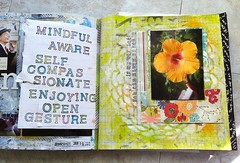 art journal pages from january (gingerblue) Tags: collage scrapbook journal visualjournal artjournal