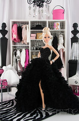 Getting Ready for the Oscars (think_pink1265) Tags: barbie dollphotography dolldiorama pinchofplatinumbarbie rebeccaberryphotography barbielookwardrobe integritytoysdarkromancegiselle